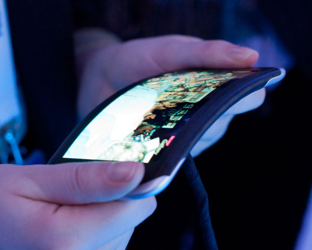 A flexible OLED screen from Nokia.